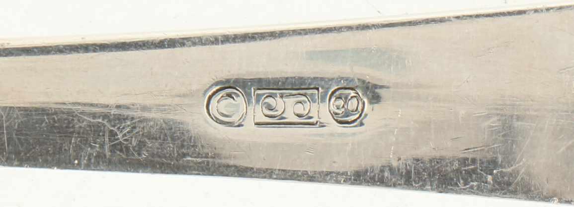 """Visschep verzilverd.Model : """"HAAGS LOFJE"""". Nederland, Zeist, M. Gerritsen. 1912, Keurtekens: - Bild 4 aus 4"""