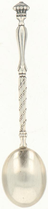 (11) Delige set theelepeltjes zilver.Baluster vormig handvat versierd met parelranden. Nederland, - Bild 2 aus 3