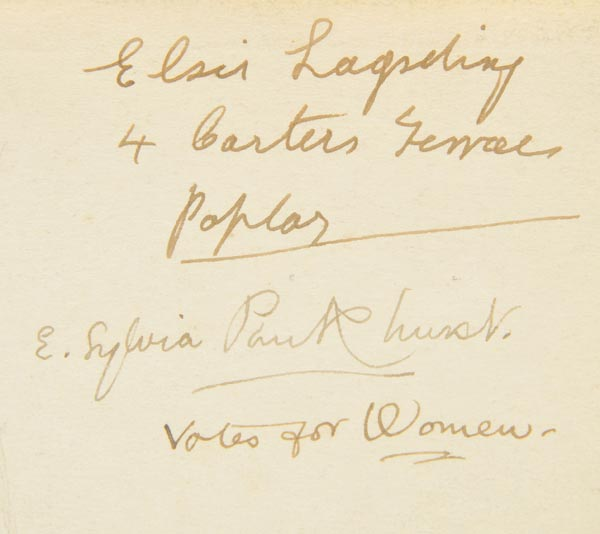 Lot 603 - Pankhurst (E. Sylvia). The Suffragette. The History of the Women's Militant Suffrage Movement,
