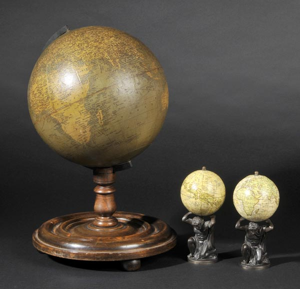 Lot 207 - Globes. Maley's Terrestrial Globe Compiled from the Latest & Most Authentic Sources, Including all