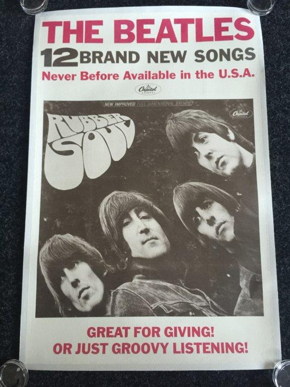 Lot 87 - BEATLES RUBBER SOUL - an original 1965 US promo poster for the Beatles Rubber album.