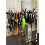 """Lot of various size """"c"""" clamps"""