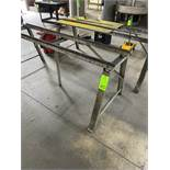 """lot of (2) 80"""" x 20"""" x 32"""" high metal saw horse"""