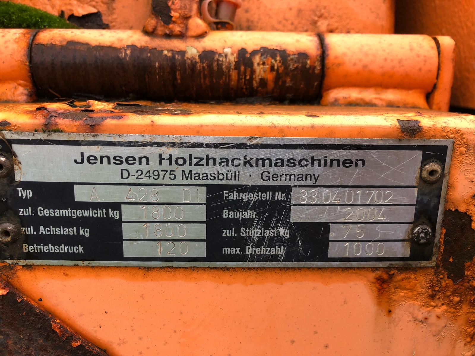 DS - QUALITY 2004 JENSEN DIESEL TURNTABLE CHIPPER, QUALITY TRAILER - Bild 7 aus 8
