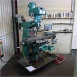 1 milling machine by Widdowsons (Bridgeport type) 3ph, table size 1.25m x 23cm, 830mm x 450mm