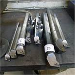 8 various boring bars and 2 tool holders