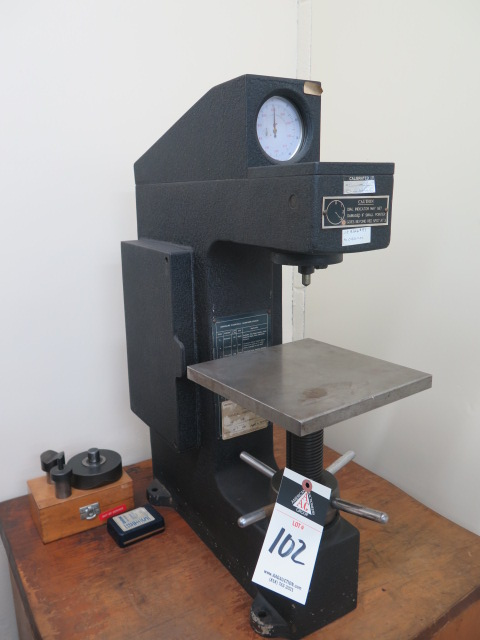 Lot 102 - Enco mdl. NR Rockwell Hardness Tester s/n 78/400