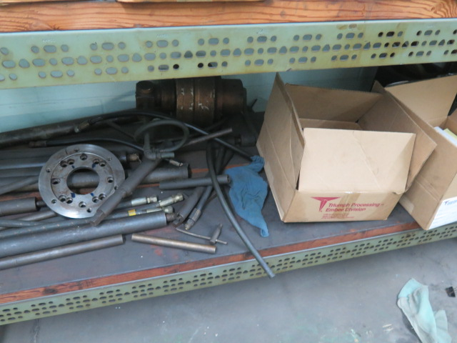 Lot 90 - Misc Fixtures and Tooling w/ Shelves