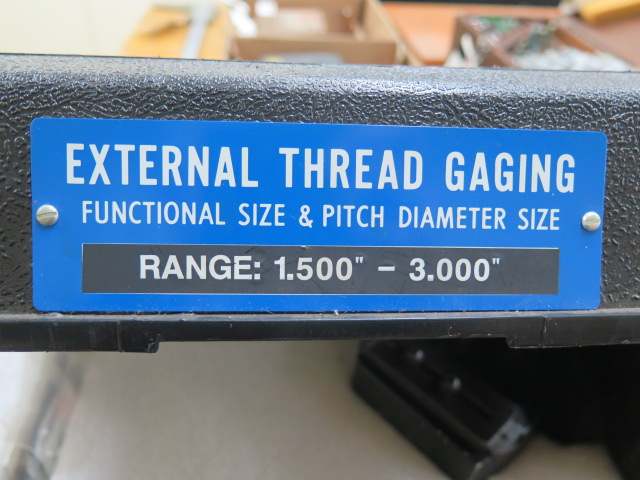 """Lot 109 - Johnson Gage mdl. 3-C-1 Group """"C"""" 1.5""""-3.0"""" Dial Roll Thread Pitch Gage"""