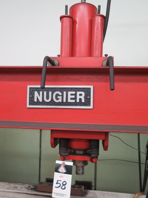 Lot 58 - Nugier H40-14 40-Ton Hydraulic H-Frame Press s/n N1960031 w/ Enerpac Electric Hydraulic Unit
