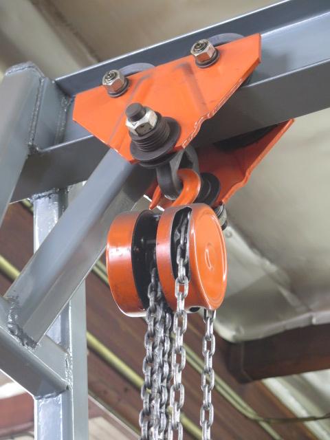 Lot 33 - Portable A-Frame Gantry w/ Chain Hoist