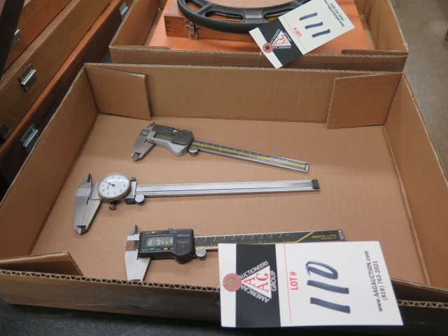 Lot 110 - Mitutoyo Digital and Dial Calipers