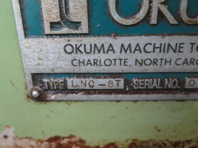 "Lot 60 - Okuma Cadet Type LNC-8 CNC Turning Center s/n B024 w/ Okuma OSP5020L Controls, 12-Station Turret, 8"""