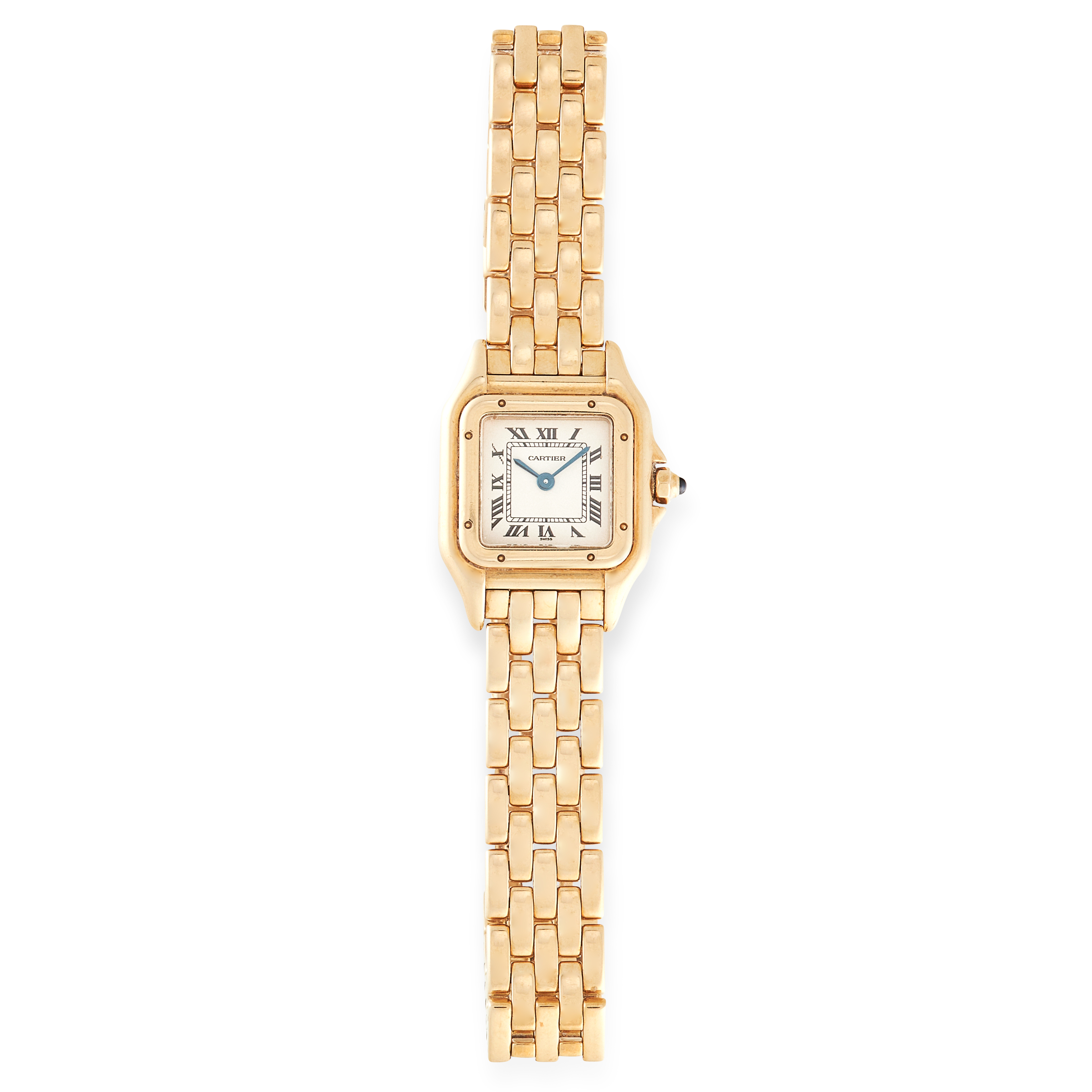 A LADIES PANTHERE DE CARTIER WRIST WATCH, CARTIER in 18ct yellow gold, the face with Roman numerals, - Image 2 of 3