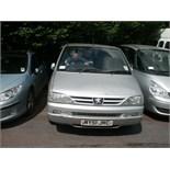 2001 (Oct) PEUGEOT 806 QUICKSILVER Hdi 5 door estate car, silver, diesel, 1997cc, mileage to be