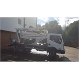 2014 (Sept) NISSAN 45.14 type F242 4500kg chassis cab fitted Isoli PNT210J 21m 2 person ACCESS