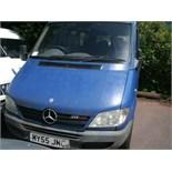2005 (March) MERCEDES SPRINTER 211 Cdi SWB 9 seater MINI BUS including driver, blue, diesel, 2148cc,
