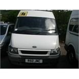 2005 (Aug) FORD TRANSIT 350 LWB 15 seater MINI BUS including driver, white, diesel, 2402cc, 286,