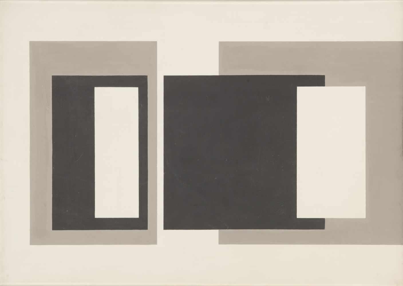 Ettore Colla (Parma 1896 - Roma 1968)Ohne Titel, 1950;Tempera auf Leinwand, 50 x 70 cm, verso