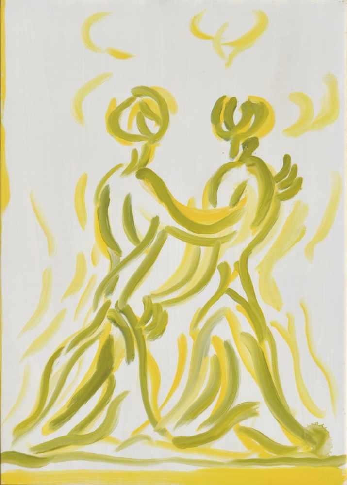 Virgilio Guidi (Rom/Roma 1891 – Venedig/Venezia 1984)Incontro, 1970;Öl auf Leinwand, 70 x 50 cm,