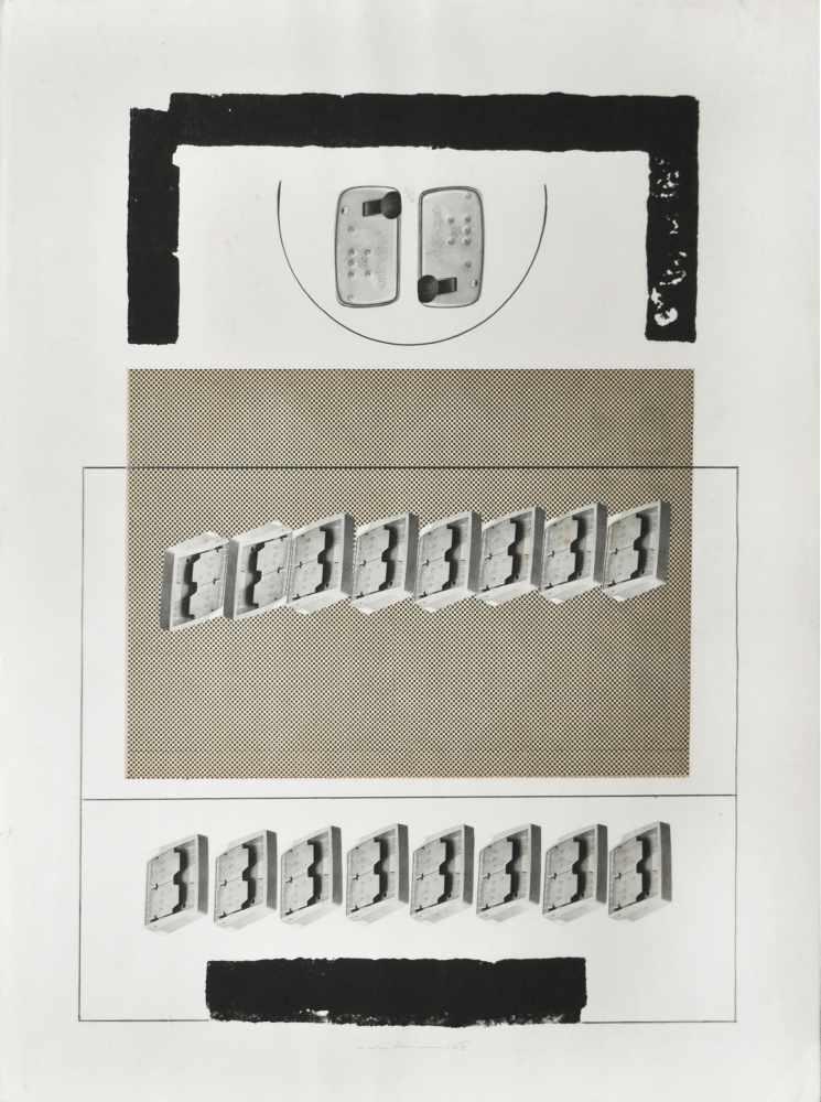 Nicola Carrino (Taranto 1932 – Roma 2018)Ohne Titel, 1963;Mischtechnik, Collage auf Papier, 65,5 x