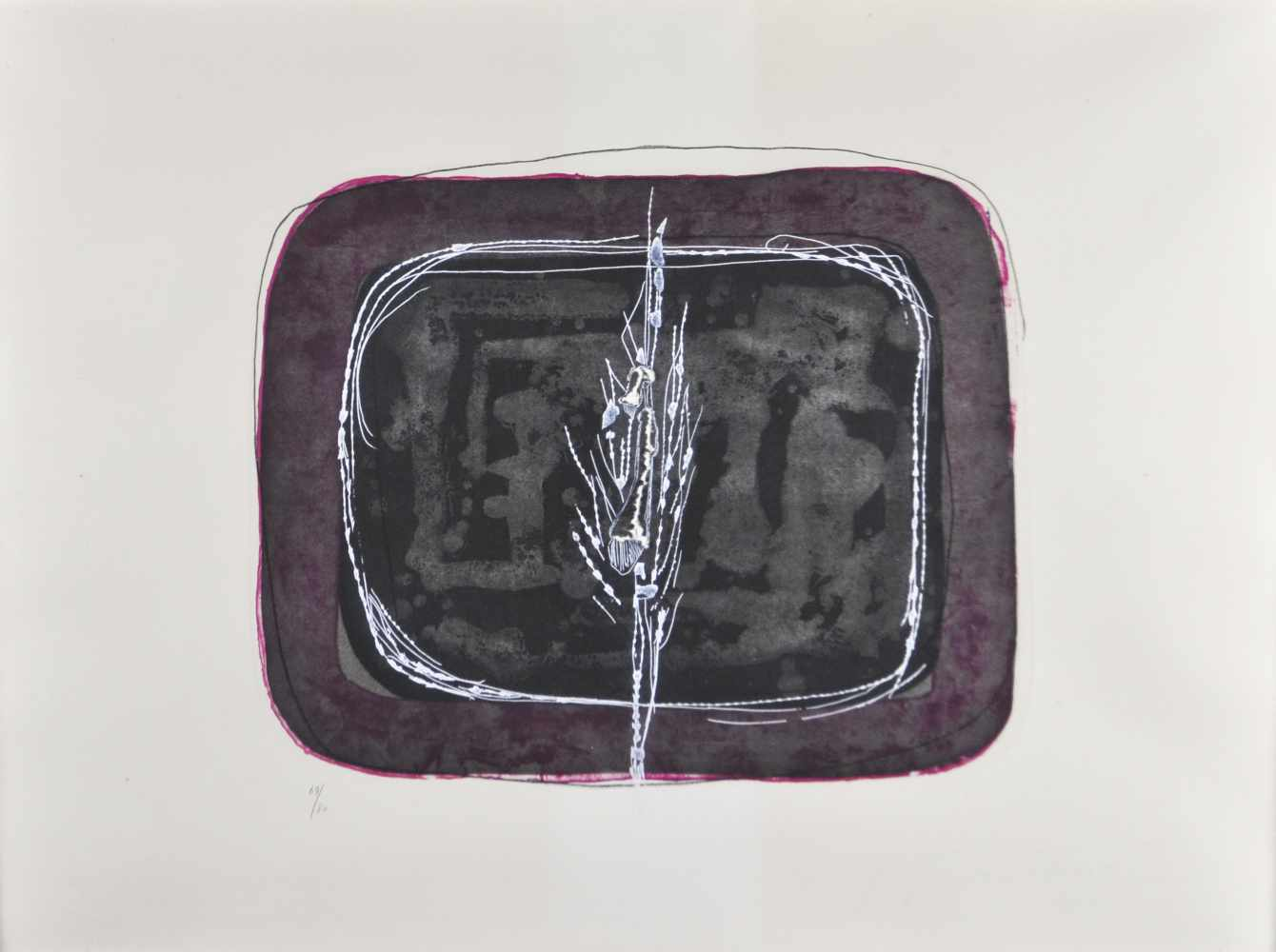 Lucio Fontana (Rosario di Santa Fè 1899 - Varese 1968)Concetto spaziale. 1968;Farbaquatinta mit