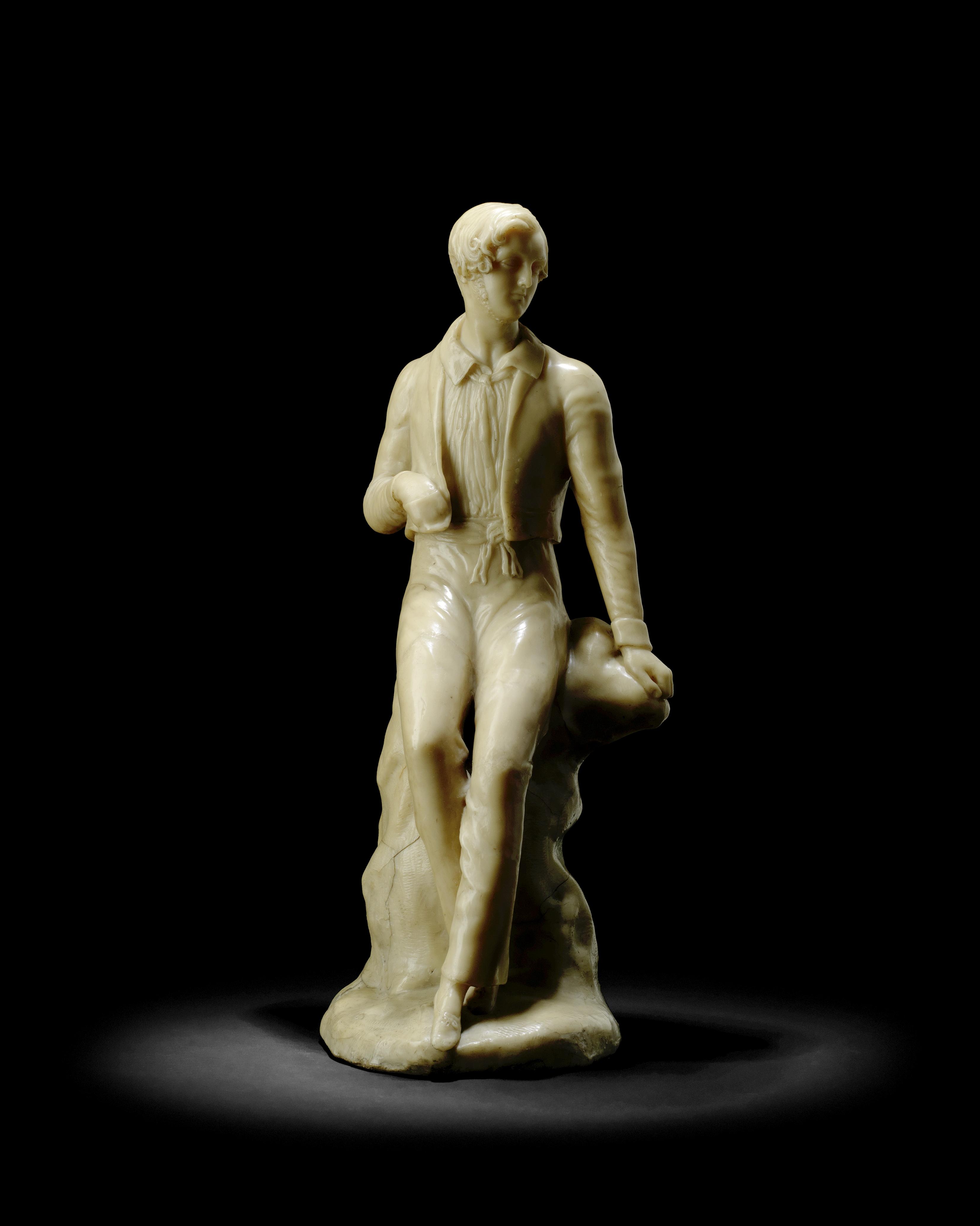 Lot 41 - Richard Cockle Lucas (British 1800-1883): A second quarter 19th Century wax portrait figure of a ...