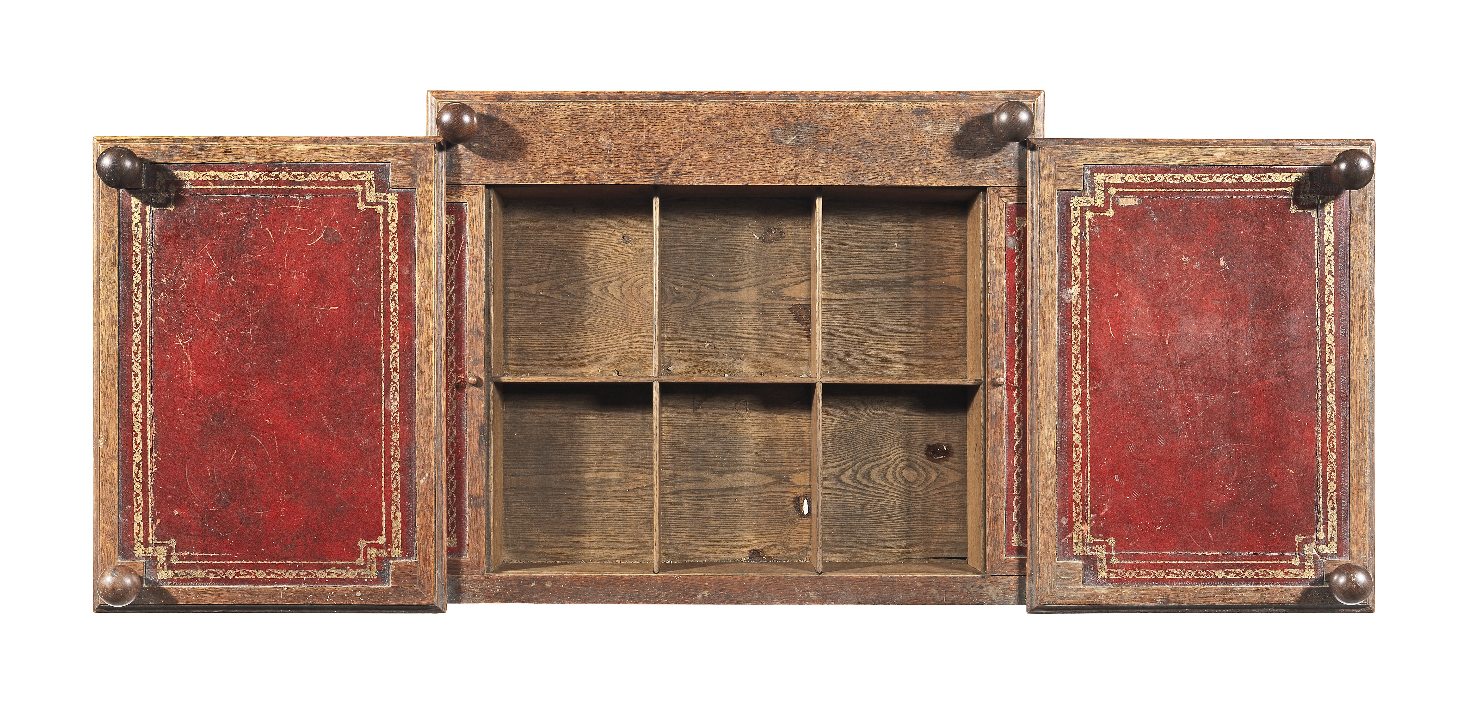 Lot 26 - A Regency gothic revival oak breakfront dressing table after a design by George Smith