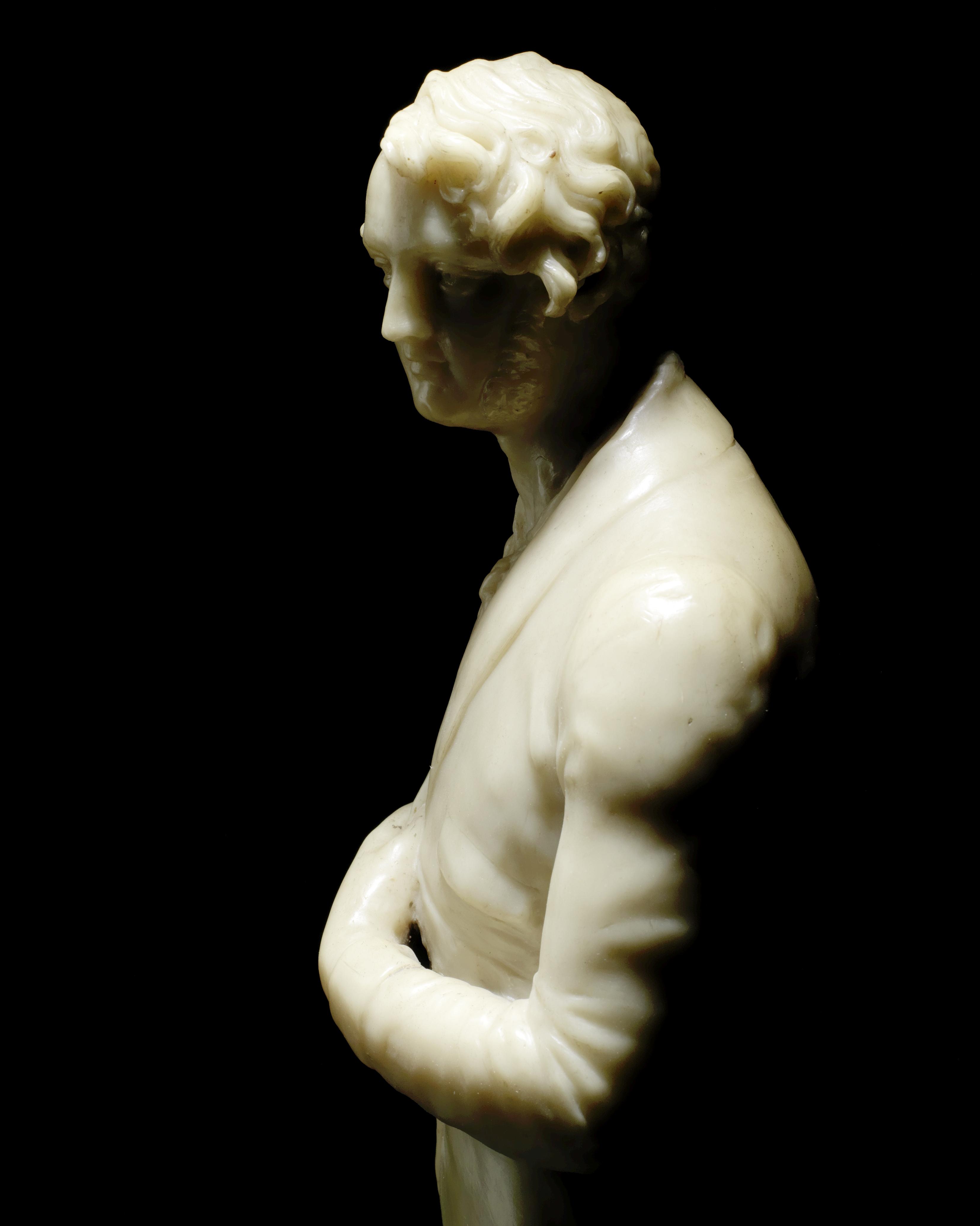 Richard Cockle Lucas (British 1800-1883): A second quarter 19th century wax portrait figure of a ... - Image 2 of 5