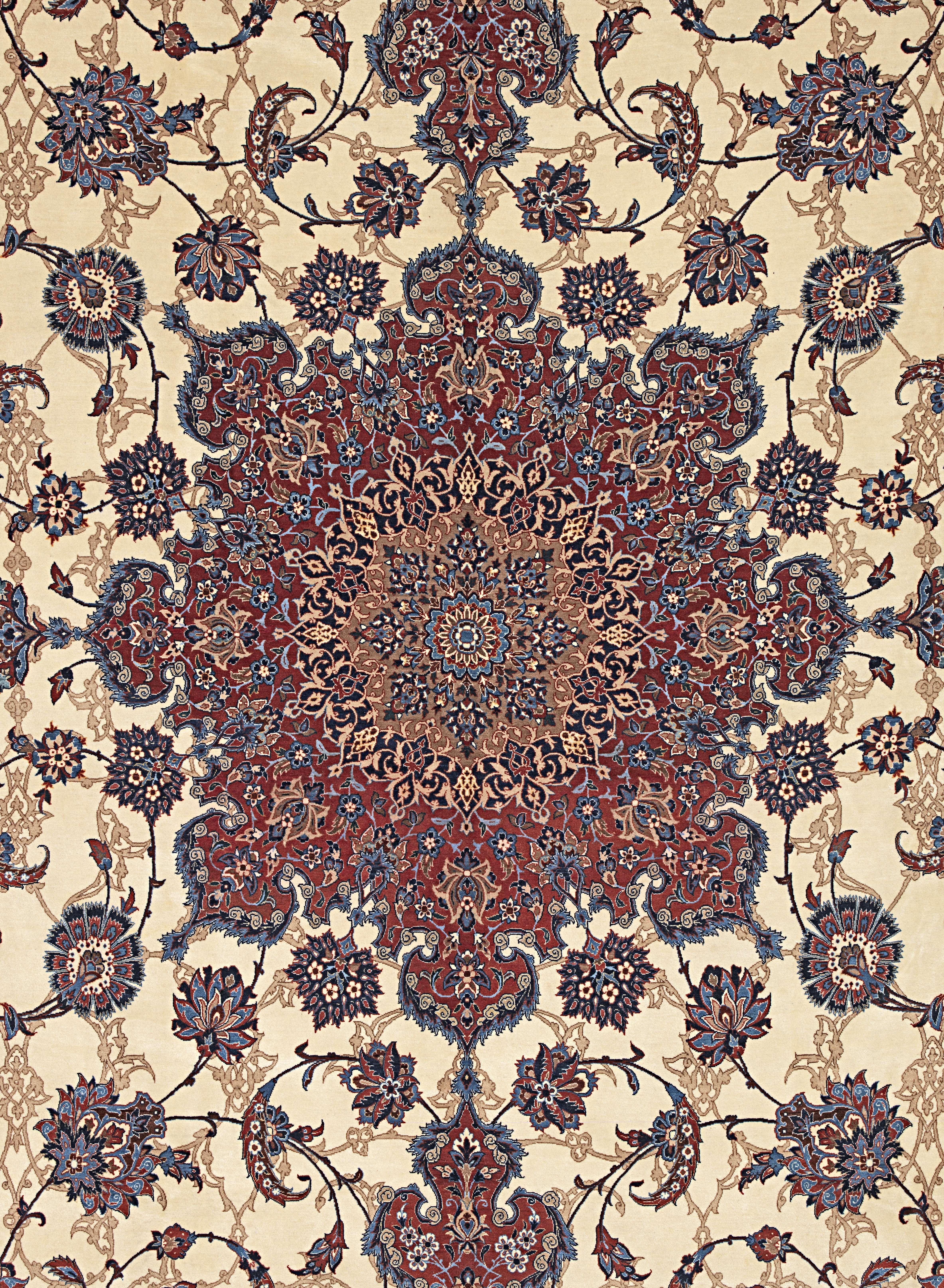 Lot 43 - A fine Isfahan Serafian carpet Central Persia, 338cm x 204cm