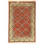 Feiner Ghom Seide, Persien, ca. 40 Jahre, reine Naturseide, ca. 150 x 102 cm, EHZ: 2Fine Qom silk,