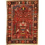Bachtiar alt, Persien, ca. 60 Jahre, Wolle auf Baumwolle, ca. 205 x 147 cm, gute Naturfarben,