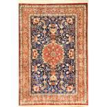"""Feiner Seiden Ghom """"Mir Mehdi"""" (Signiert), Persien, ca. 30 Jahre alt, reine Naturseide, ca. 190 x"""
