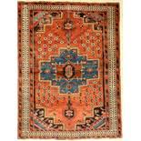Afschar alt, Persien, um 1940, Wolle auf Baumwolle, ca. 152 x 115 cm, EHZ: 3 (oxidiertes