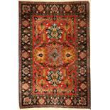 Feiner Azeri alt, Persien, ca. 60 Jahre, Korkwolle, ca. 183 x 122 cm, feine Knüpfung, dekorativ,
