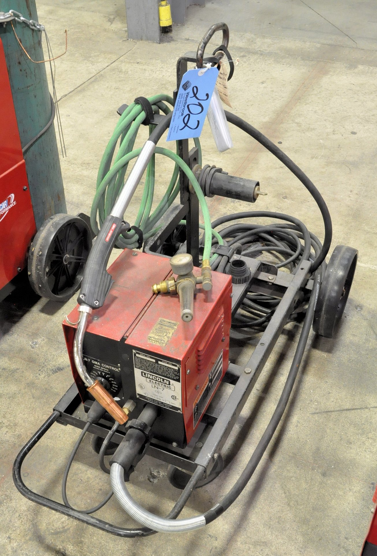 Lincoln LN-7 Portable Wire Feeder Unit with Leads and Cart