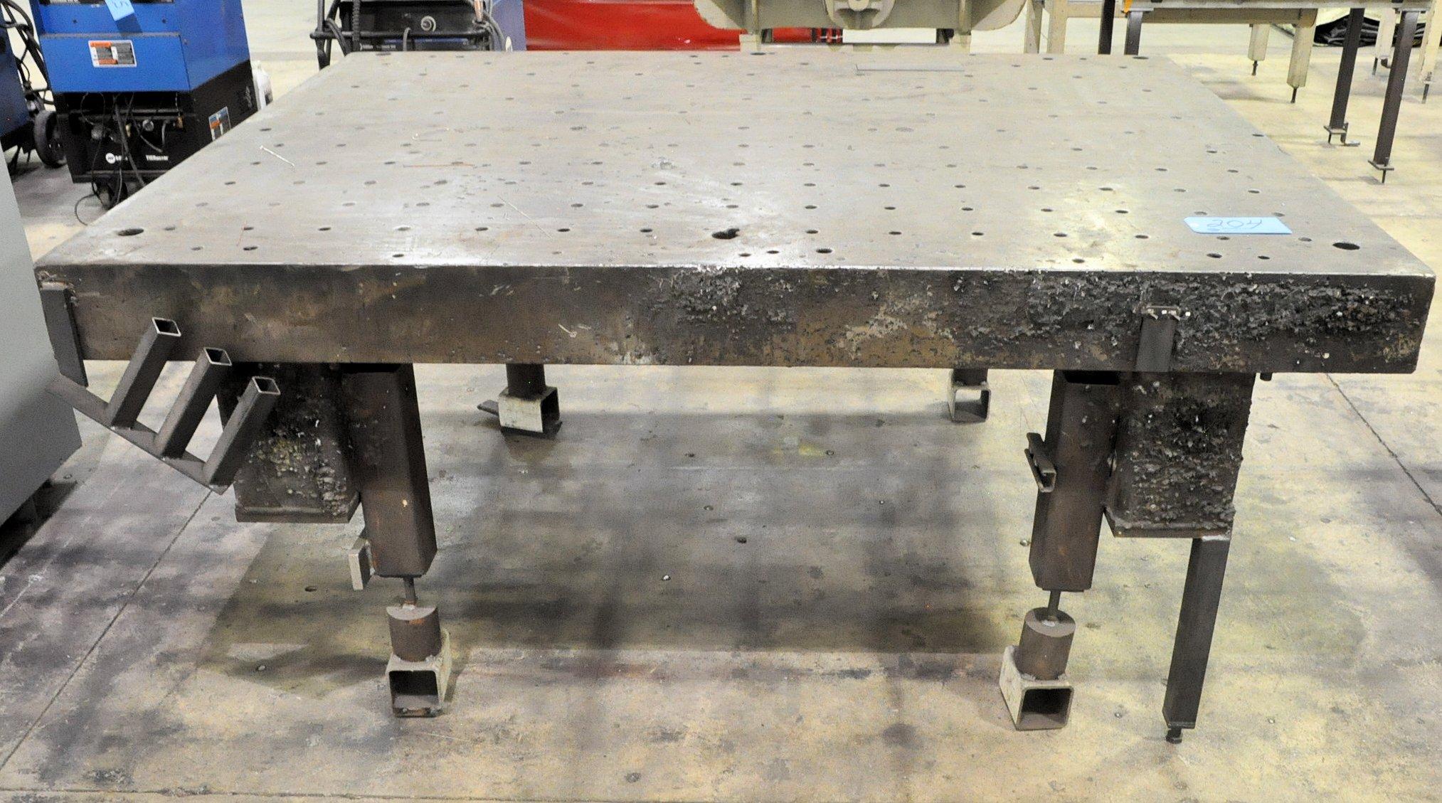 "66"" x 86"" x 7"" Steel Welding Table"