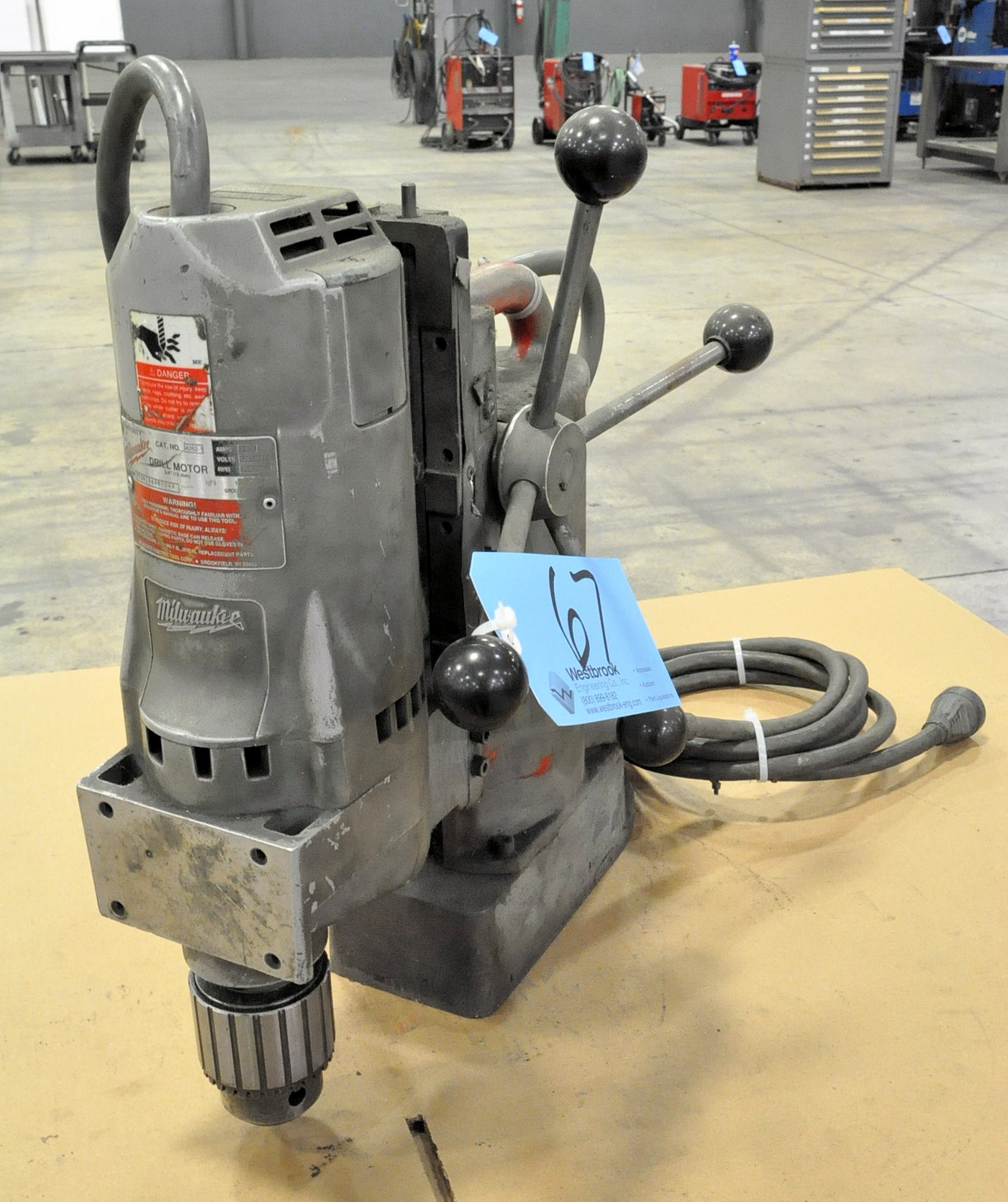 """Milwaukee Magnetic Base Drill Cat. No. 4262-1, 3/4"""""""