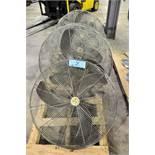 """Lot-(5) Air Master 30"""" Post Mount Style Shop Fans on (1) Pallet"""