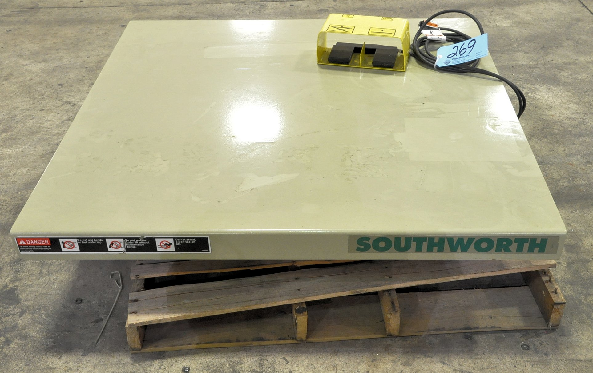New Southward 2,000-Lbs. Capacity Electric Foot Operated Scissor Lift