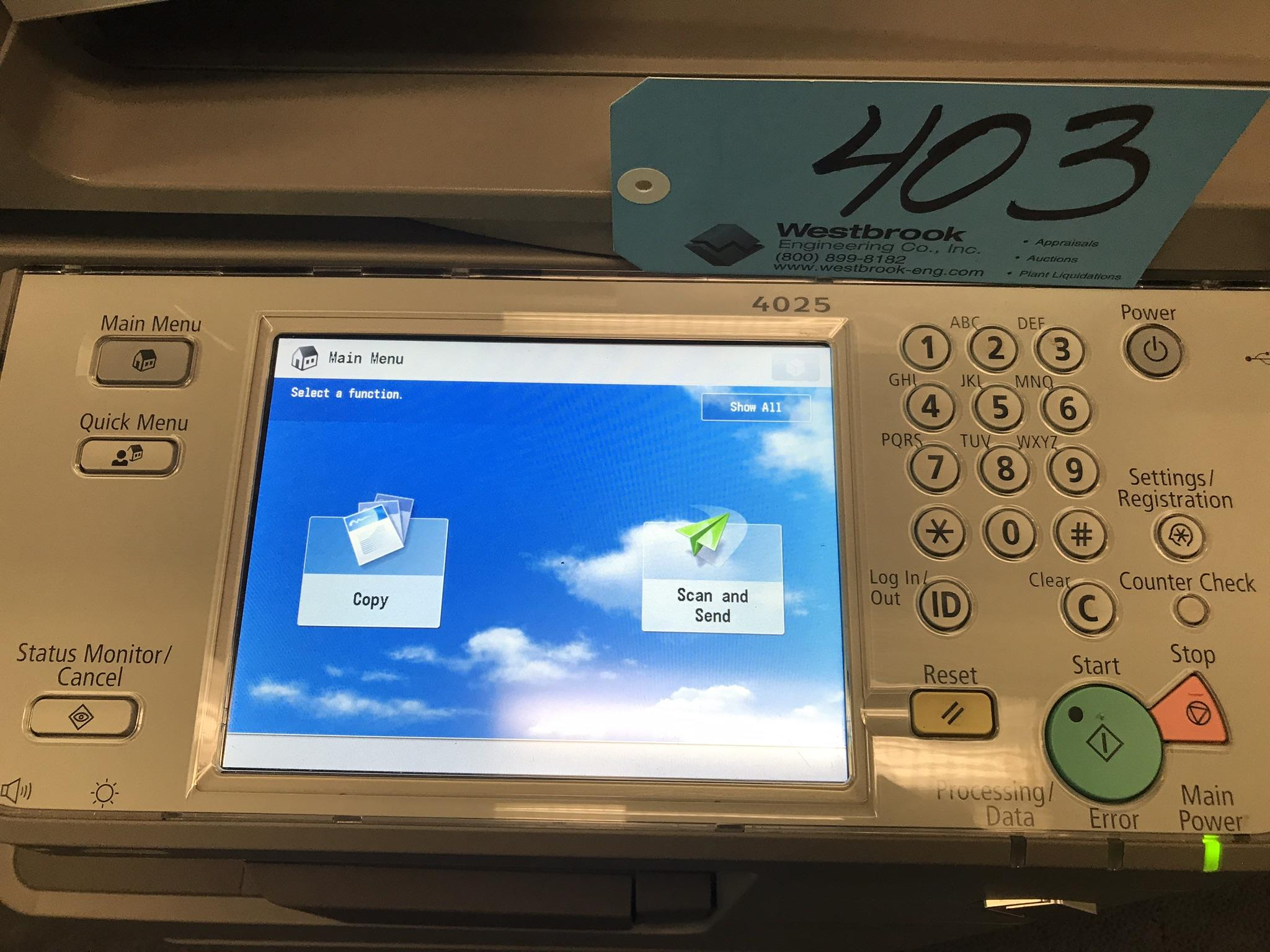 Canon 4025 Image Runner Multifunction Imaging System w/ Color Copy, B & W Print, Scan, Send, Store - Image 4 of 4