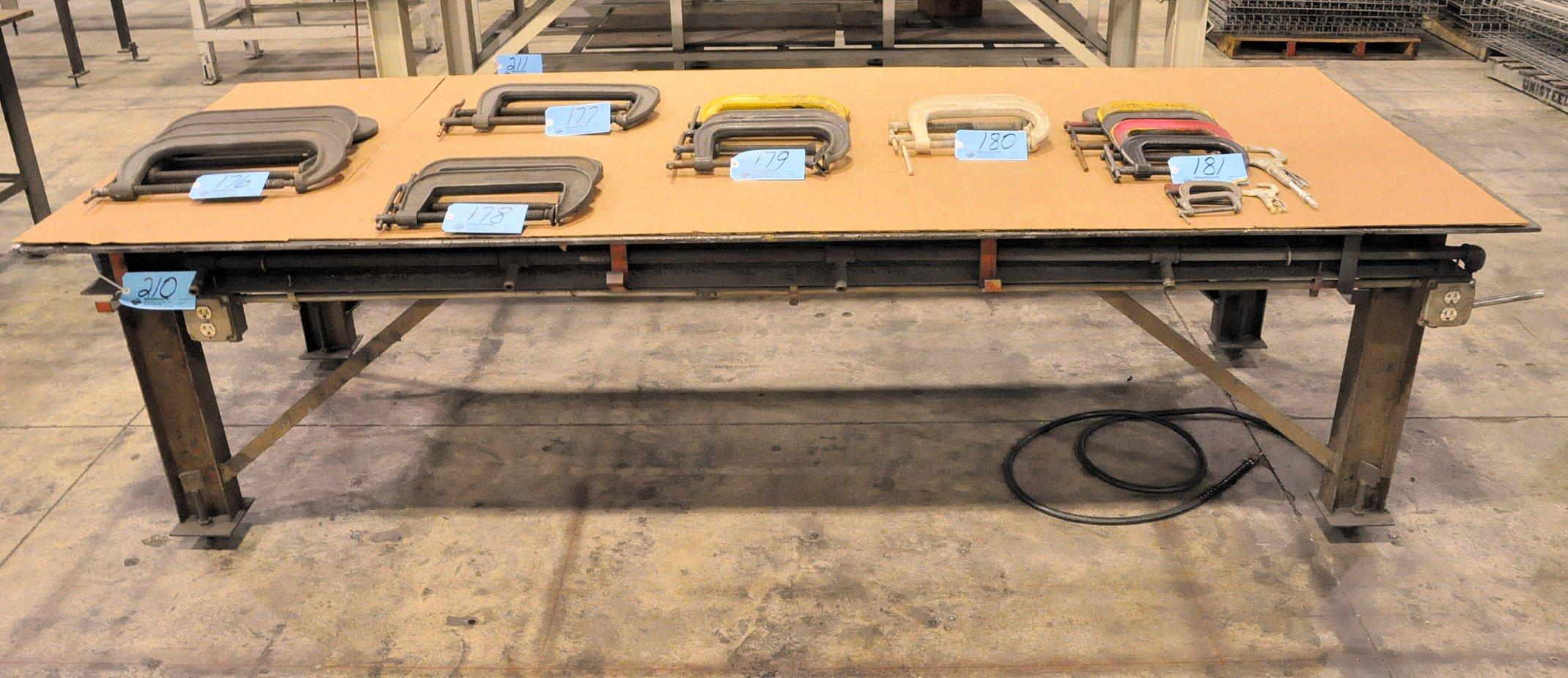 """120"""" x 48"""" x 3/8"""" Steel Top Welding Table"""