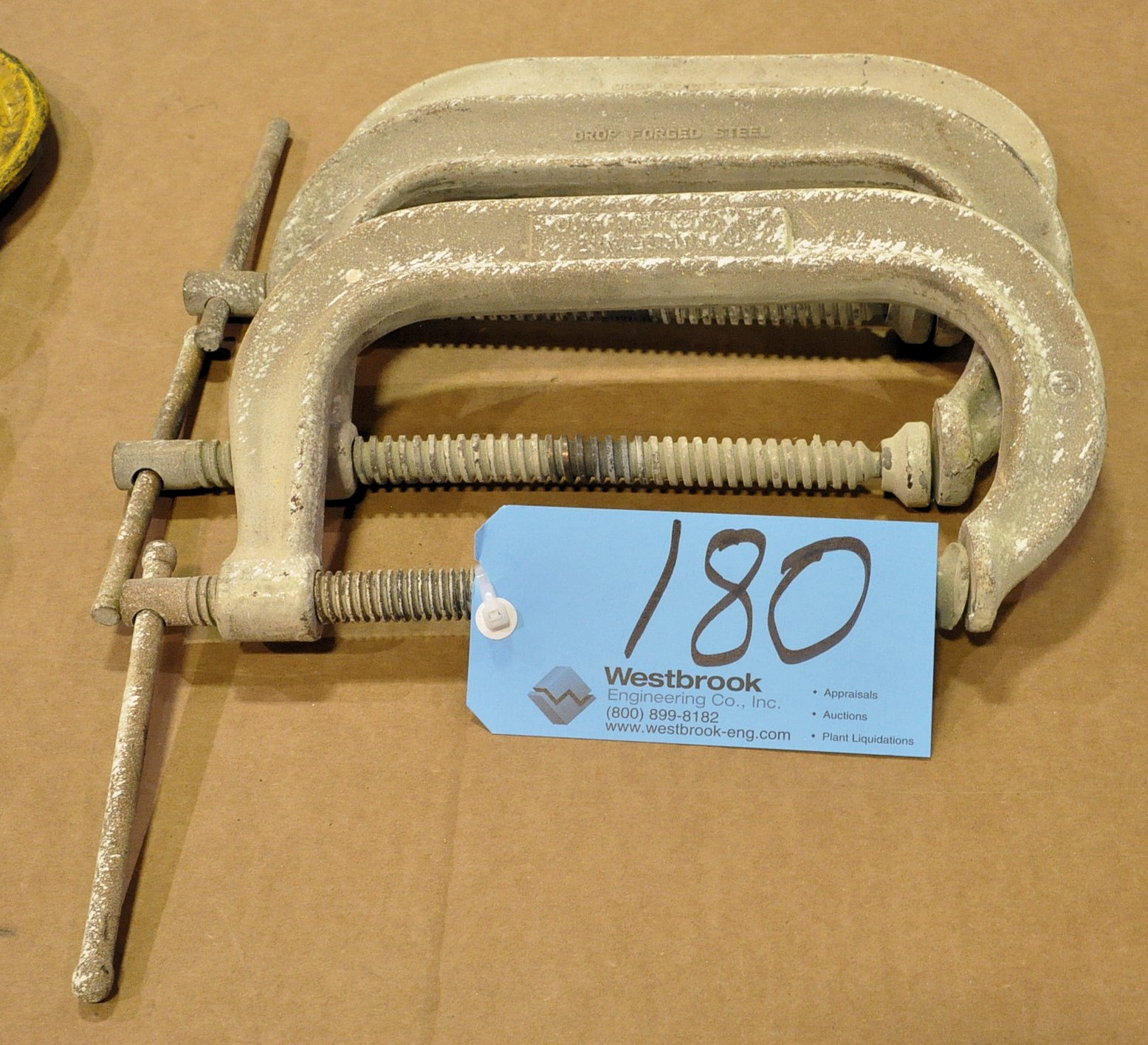 "Lot-(3) 8"" C-Clamps"