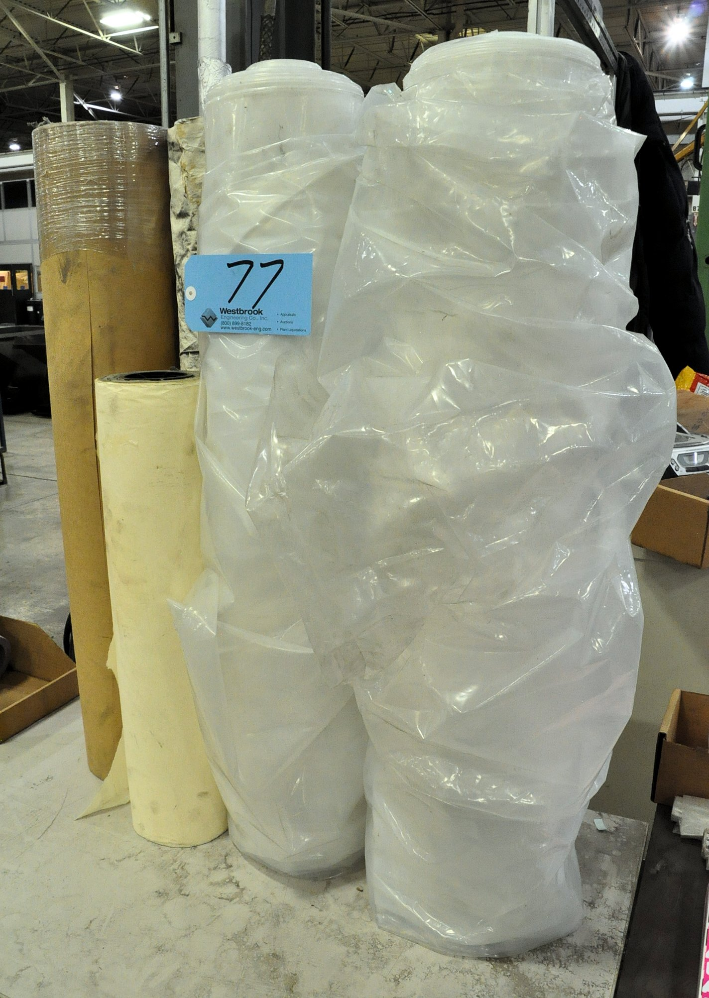 Lot-Brown and White Masking Paper with Plastic Sheeting