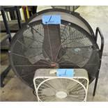 """Lot-(1) Dayton 36"""" Portable Drum Fan and (1) Lasko 18"""" Room Fan"""
