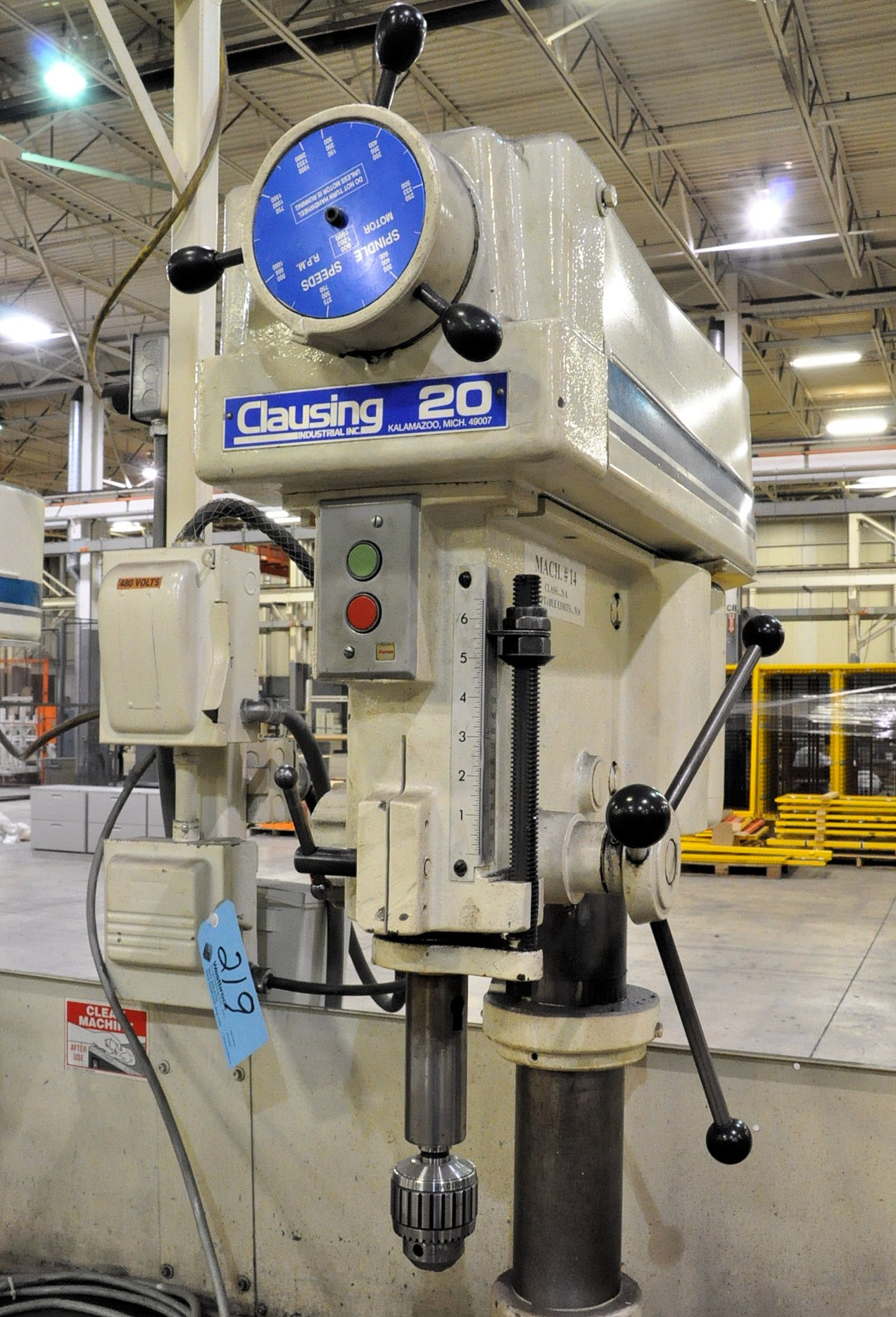 """Clausing Model 2284, 20"""" 2-Head Production Drill Press, - Image 2 of 3"""