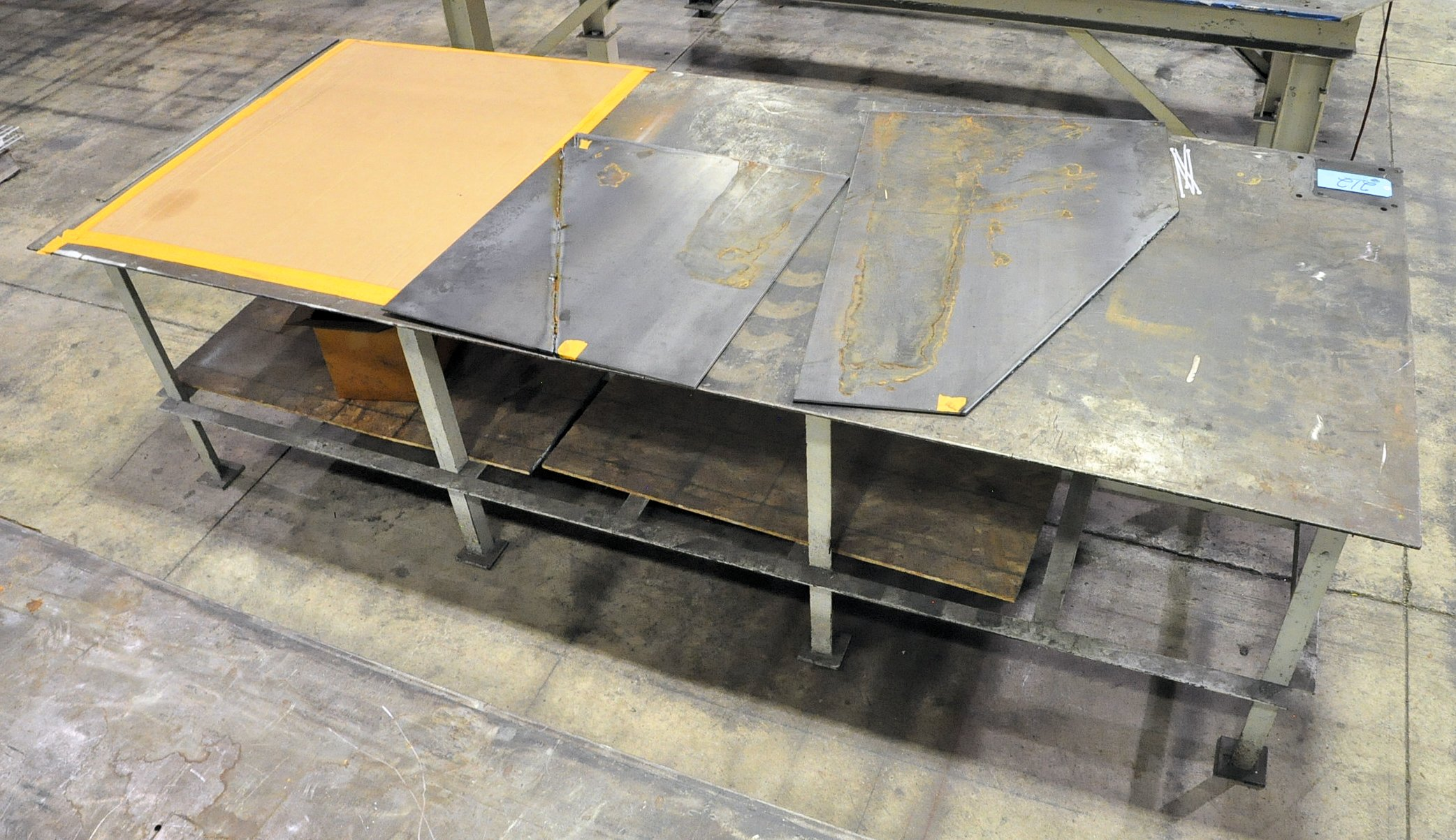 "120"" x 48"" x 3/8"" Steel Top Welding Table"