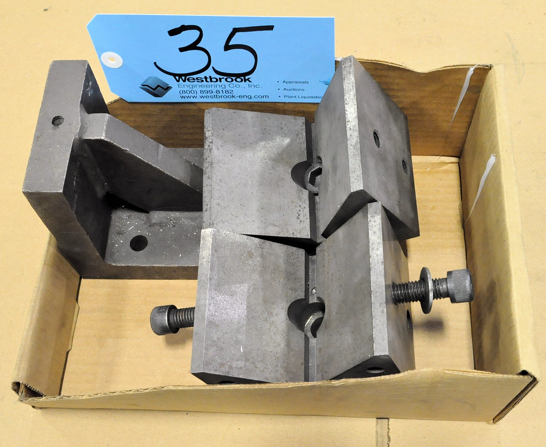 Lot-(2) V-Blocks and (1) Angle Plate in (1) Box