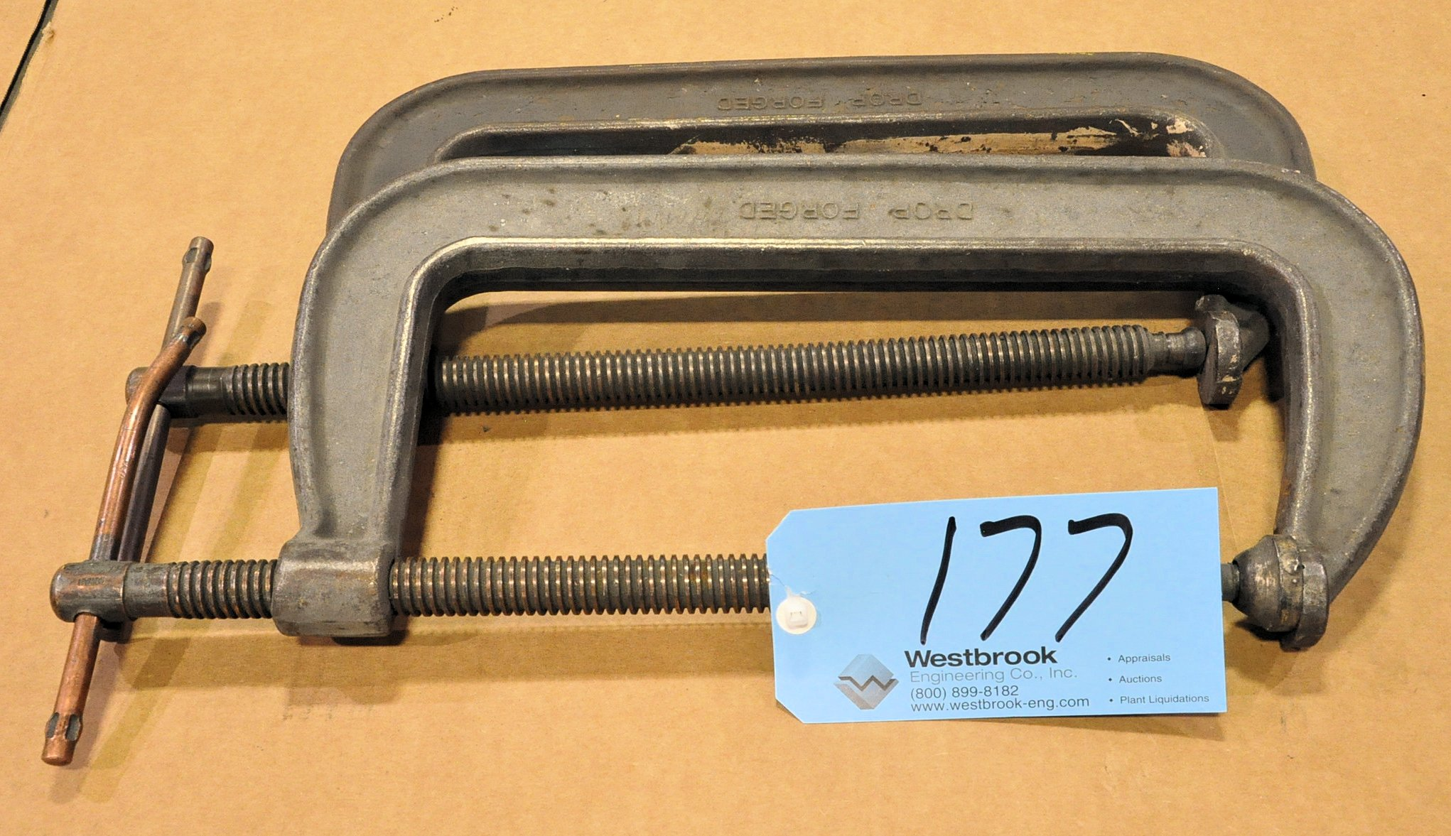 """Lot-(2) 12"""" C-Clamps"""
