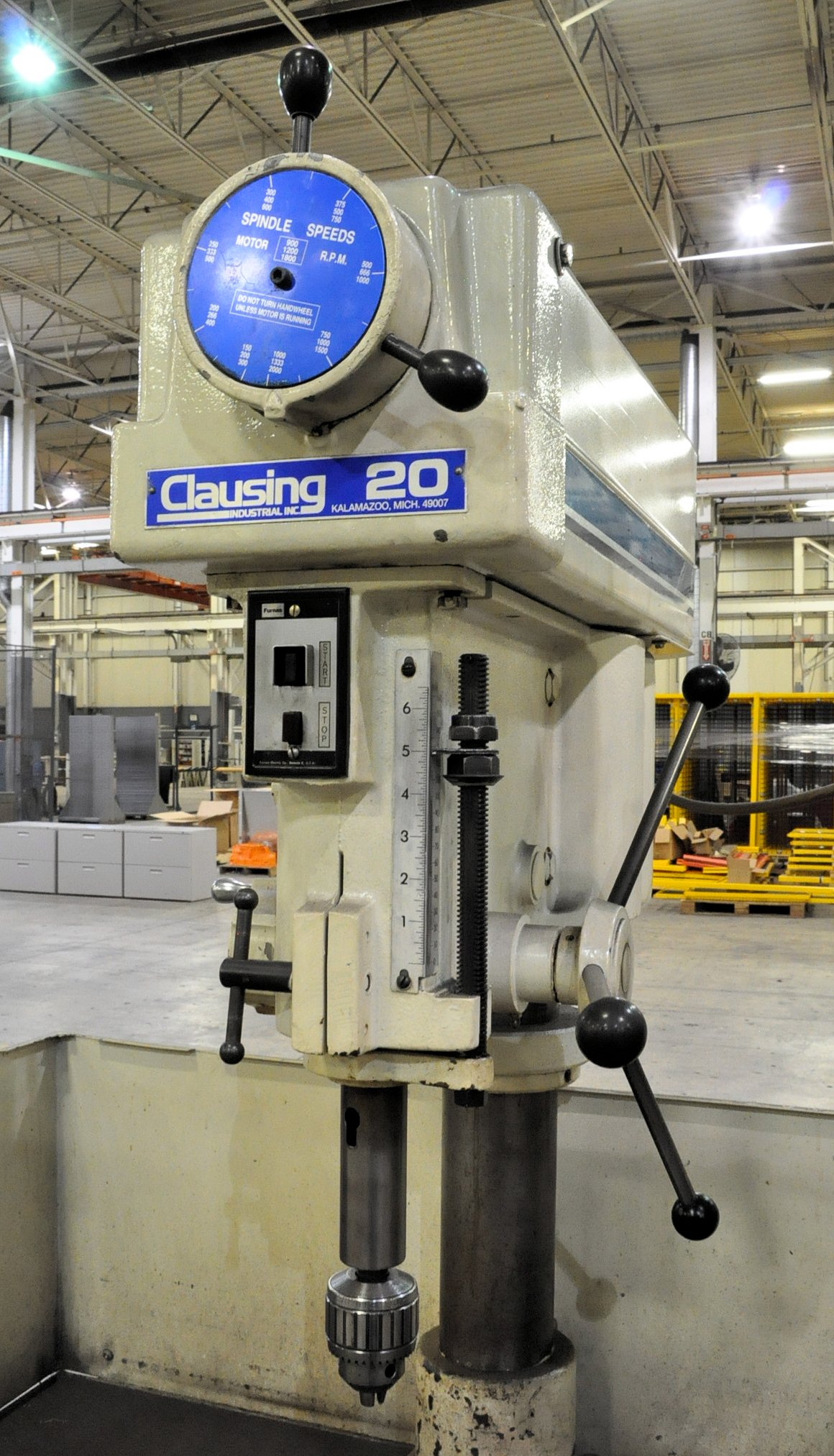 """Clausing Model 2284, 20"""" 2-Head Production Drill Press, - Image 3 of 3"""